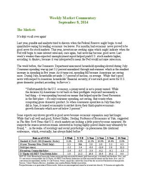 Weekly Commentary 09-08-14 PAA