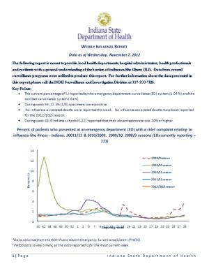 Weekly Influenza Report