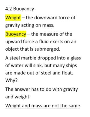 Weight the Downward Force of Gravity Acting on Mass