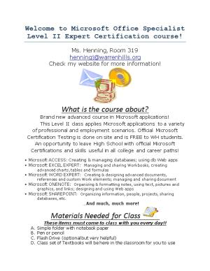 Welcome to Microsoft Office Specialist Level II Expert Certification Course!