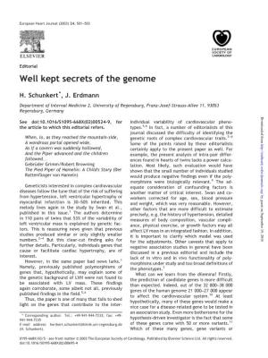 Well Kept Secrets of the Genome