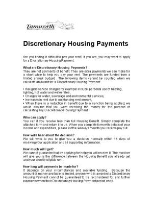 What Are Discretionary Housing Payments?