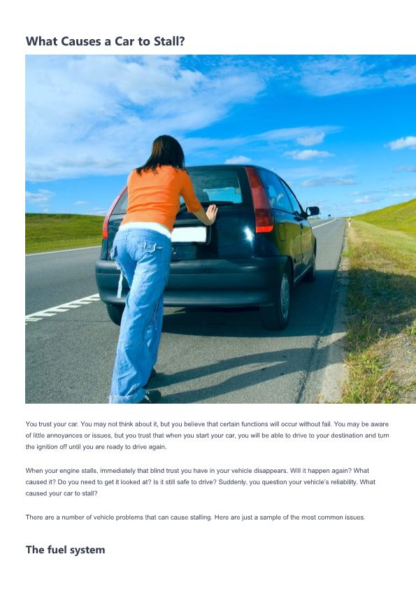What Causes a Car to Stall?