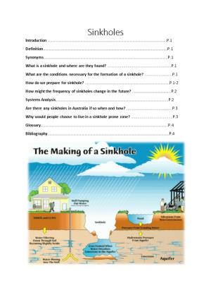 What Is a Sinkhole and Where Are They Found? P.1