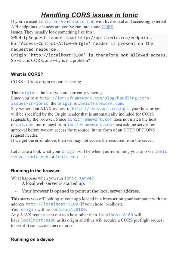 What Is CORS?