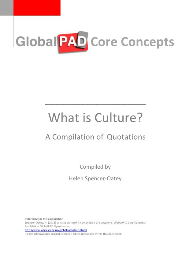 What Is Culture?-A Compilation of Quotations