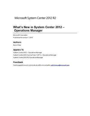 What S New in System Center 2012 Operations Manager
