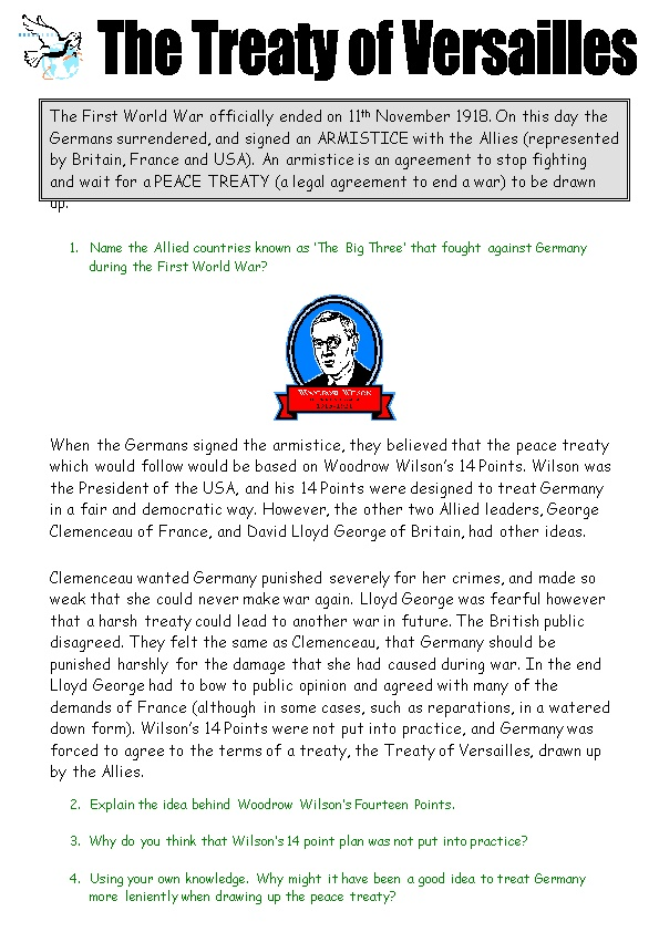 When the Germans Signed the Armistice, They Believed That the Peace Treaty Which Would