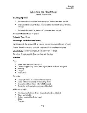 Who Stole the Playstation? Teacher S Instructions