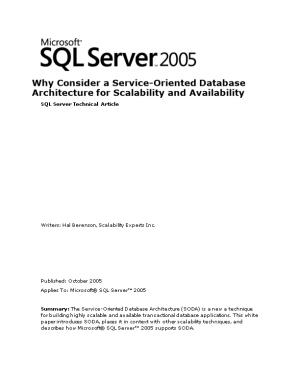 Why Consider a Service-Oriented Database Architecture for Scalability and Availability