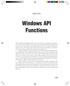 Windows API Functions