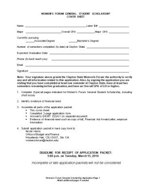 Women S Forum General Student Scholarship