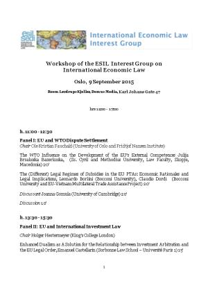 Workshop of the ESIL Interest Group On