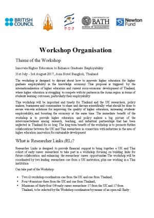 Workshop Organisation