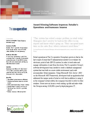 Writeimage CEP Award Winning Software Improves Retailer S Operations and Increases Income