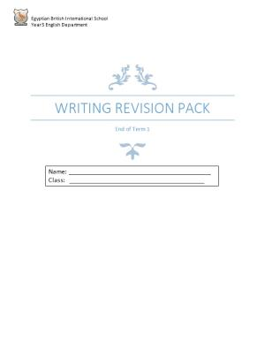 Writing Revision Pack