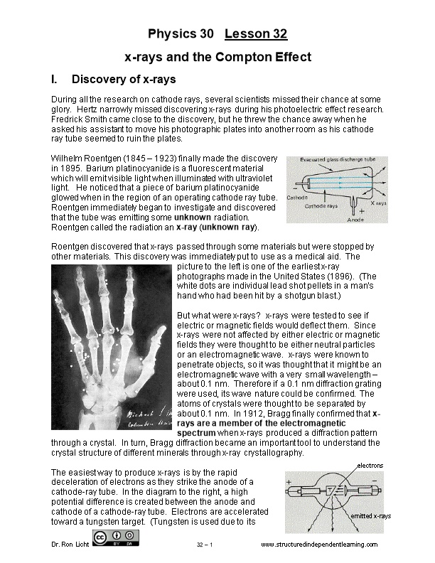 X-Rays and the Compton Effect