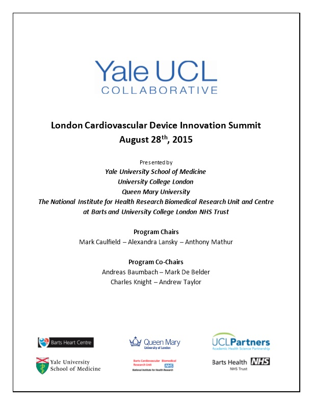 Yale-UCL Cardiovascular Device Innovation Summit