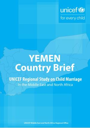 YEMEN Country Brief