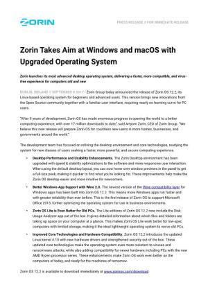 Zorin Takes Aim at Windows and Macos with Upgraded Operating System